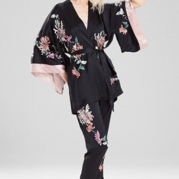 NEW NATORI WOMENS JOSIE NATORI CHRYSANTHEMUM EMBROIDERED WRAP STYLE D44067