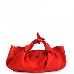 NEW THE ROW WOMENS THE ASCOT KNOTTED SATIN TOTE
